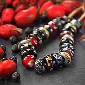 Украшения ручной работы. Ярмарка Мастеров - ручная работа Темная осень - бусины в стиле пандора для браслета. Handmade.