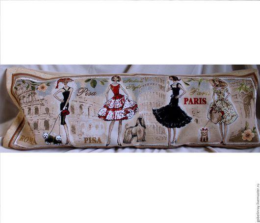 Текстиль, ковры ручной работы. Ярмарка Мастеров - ручная работа. Купить ДЕВУШУКИ МИРА РИМ: чехол гобеленовый на подушку, 35-90 см. Handmade.