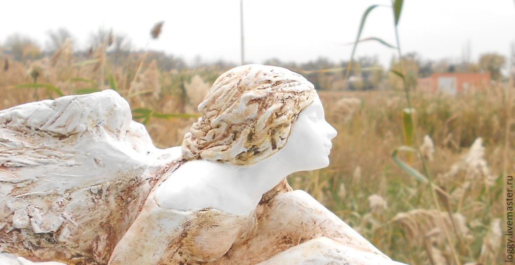 """Скульптурная композиция """"Ангел и осень"""", Статуэтки, Астрахань,  Фото №1"""