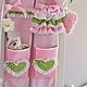 Кармашки органайзер в детскую комнату текстильный Шебби Шик Прованс. Кармашки в детскую комнату. Кармашки для мелочей. Текстильный дизайн.