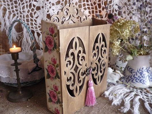 Прихожая ручной работы. Ярмарка Мастеров - ручная работа. Купить Ключница ,,Старинный сад,,. Handmade. Комбинированный, хранение ключей