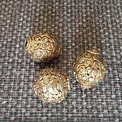 Украшения ручной работы. Ярмарка Мастеров - ручная работа Тибетские золотые бусины. Handmade.