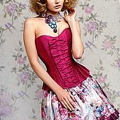 """Одежда ручной работы. Ярмарка Мастеров - ручная работа Корсетное платье """"Фуксия"""". Handmade."""