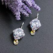 Украшения handmade. Livemaster - original item Earrings from beads and Swarovski crystals. Handmade.