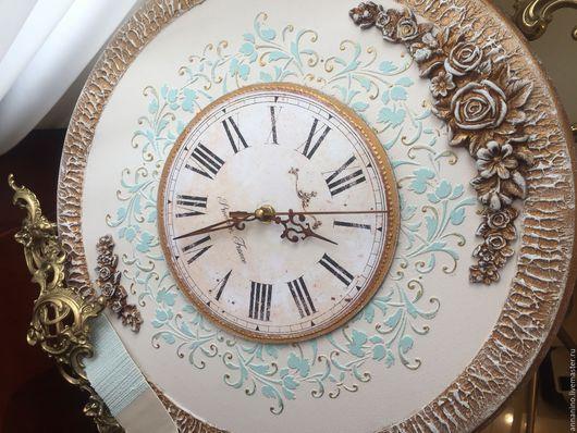 Часы для дома ручной работы. Ярмарка Мастеров - ручная работа. Купить Часы настенные Благородная классика по мотивам. Handmade. Часы