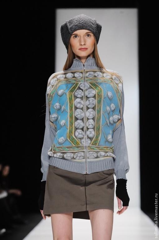 Кофты и свитера ручной работы. Ярмарка Мастеров - ручная работа. Купить Модный дизайнерский кардиган с аэрографией СИНДРОМ ТАБАКЕРКИ. Handmade.