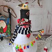Подарки к праздникам ручной работы. Ярмарка Мастеров - ручная работа Снеговик- лучший новогодний подарок. Тильда снеговик.. Handmade.
