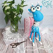 Материалы для творчества handmade. Livemaster - original item master class on knitting like a dream giraffe. Handmade.