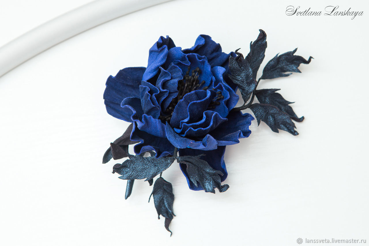Brooch leather southern night. Decoration leather, Brooches, Bobruisk, Фото №1