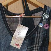 Винтаж handmade. Livemaster - original item Vintage clothing: Unusual dress of the French company 2026. Handmade.