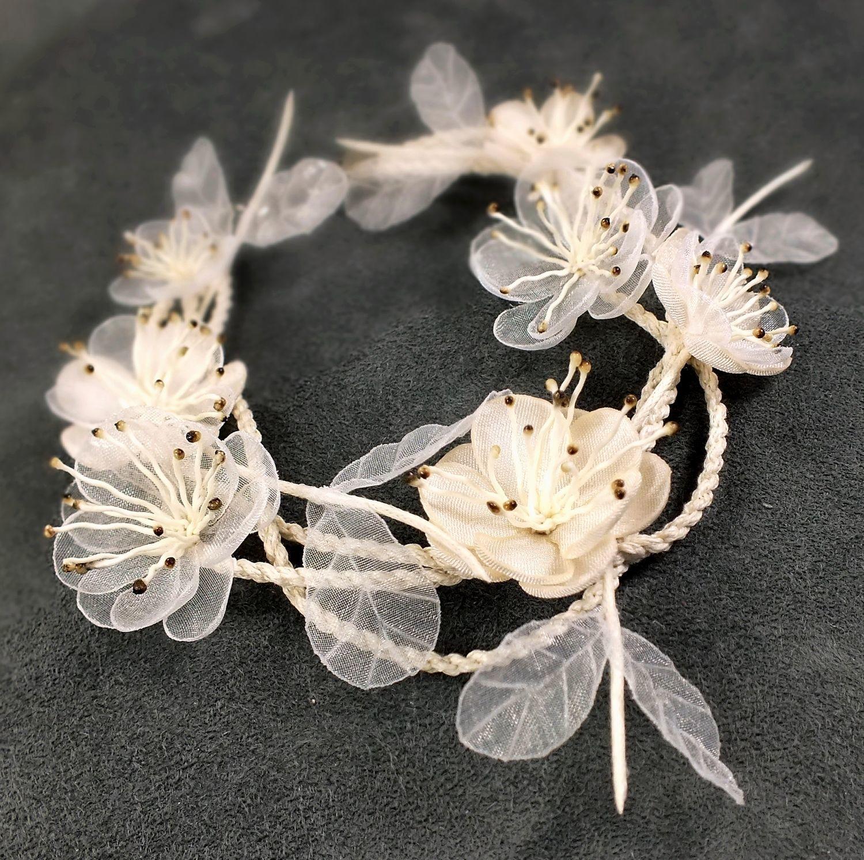 Wedding Waltz, ivory, Bracelet with handmade flowers, Bracelets, St. Petersburg,  Фото №1