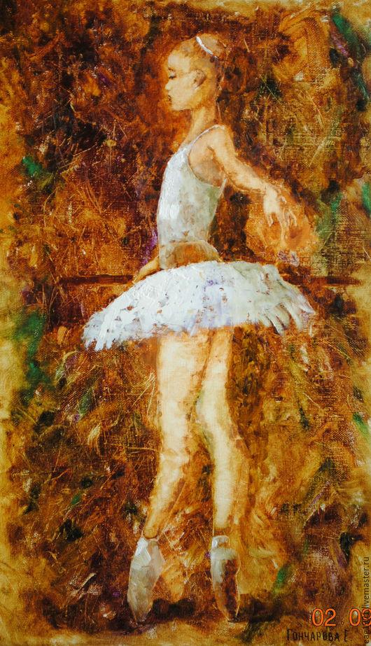 """Люди, ручной работы. Ярмарка Мастеров - ручная работа. Купить Картина маслом """"Юленька"""". Handmade. Комбинированный, балерина, холст на подрамнике"""