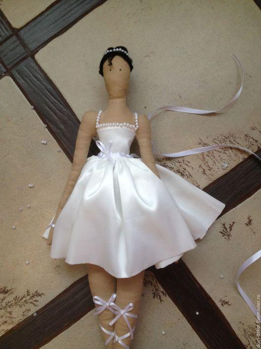 Куклы Тильды ручной работы. Ярмарка Мастеров - ручная работа. Купить Тильда балерина в белом. Handmade. Белый, пуанты, вискоза
