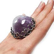 "Украшения handmade. Livemaster - original item Ring ""Amethyst Mountain"" sterling silver, natural amethyst. Handmade."