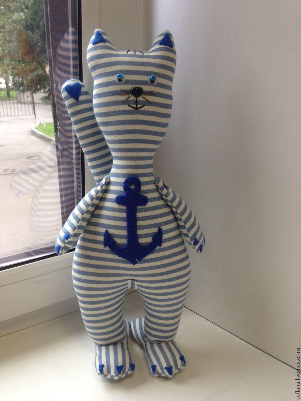 ручной работы. Ярмарка Мастеров - ручная работа. Купить кот - моряк. Handmade. Кот, голубой, подарок девушке, котик