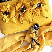 """Украшения ручной работы. Ярмарка Мастеров - ручная работа комплект:брошь """"Миранда"""",клатч. Handmade."""