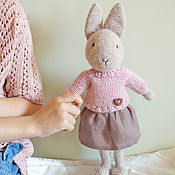 Куклы и игрушки handmade. Livemaster - original item Hare toy handmade knitted - Patty. Handmade.