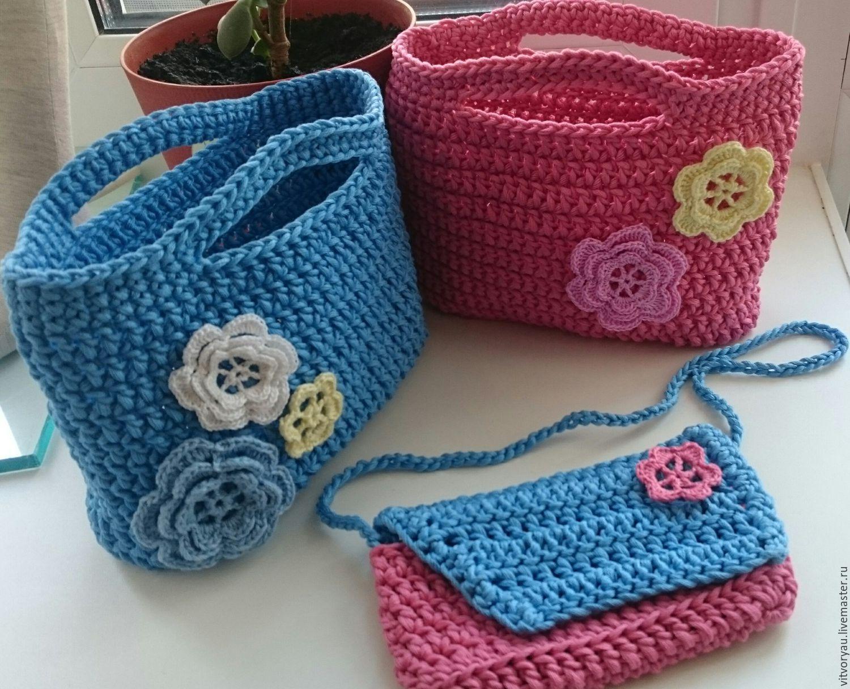 Вязание для девочек сумки 62