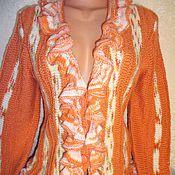 Одежда ручной работы. Ярмарка Мастеров - ручная работа Кардиган с оборками. Handmade.