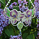 """Колье, бусы ручной работы. Ярмарка Мастеров - ручная работа. Купить """"Сиреневая Весна"""" вышитое бисером колье с нежными орхидеями. Handmade."""