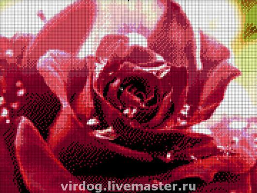 """Вышивка ручной работы. Ярмарка Мастеров - ручная работа. Купить Набор для вышивания бисером  """"желание """". Handmade. Роза, бисер"""