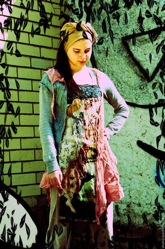 Платья ручной работы. Ярмарка Мастеров - ручная работа. Купить платье-кофта. Handmade. Платье, летний топ, 100% хлопок