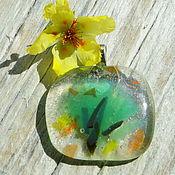 Украшения handmade. Livemaster - original item Pendant Glass spring. Handmade.
