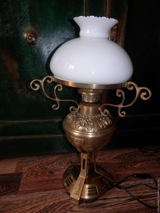 Винтажные предметы интерьера. Ярмарка Мастеров - ручная работа. Купить Антикварная настольная лампа Англия. Handmade. Лампа, библиотека, свет