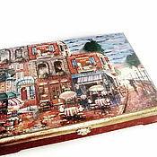 Для дома и интерьера ручной работы. Ярмарка Мастеров - ручная работа Шкатулка большая Уголок Парижа 6... Handmade.
