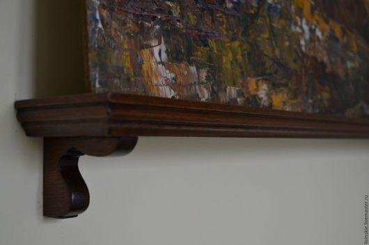 Мебель ручной работы. Ярмарка Мастеров - ручная работа. Купить Навесная полочка для картины, красное дерево. Handmade. Коричневый