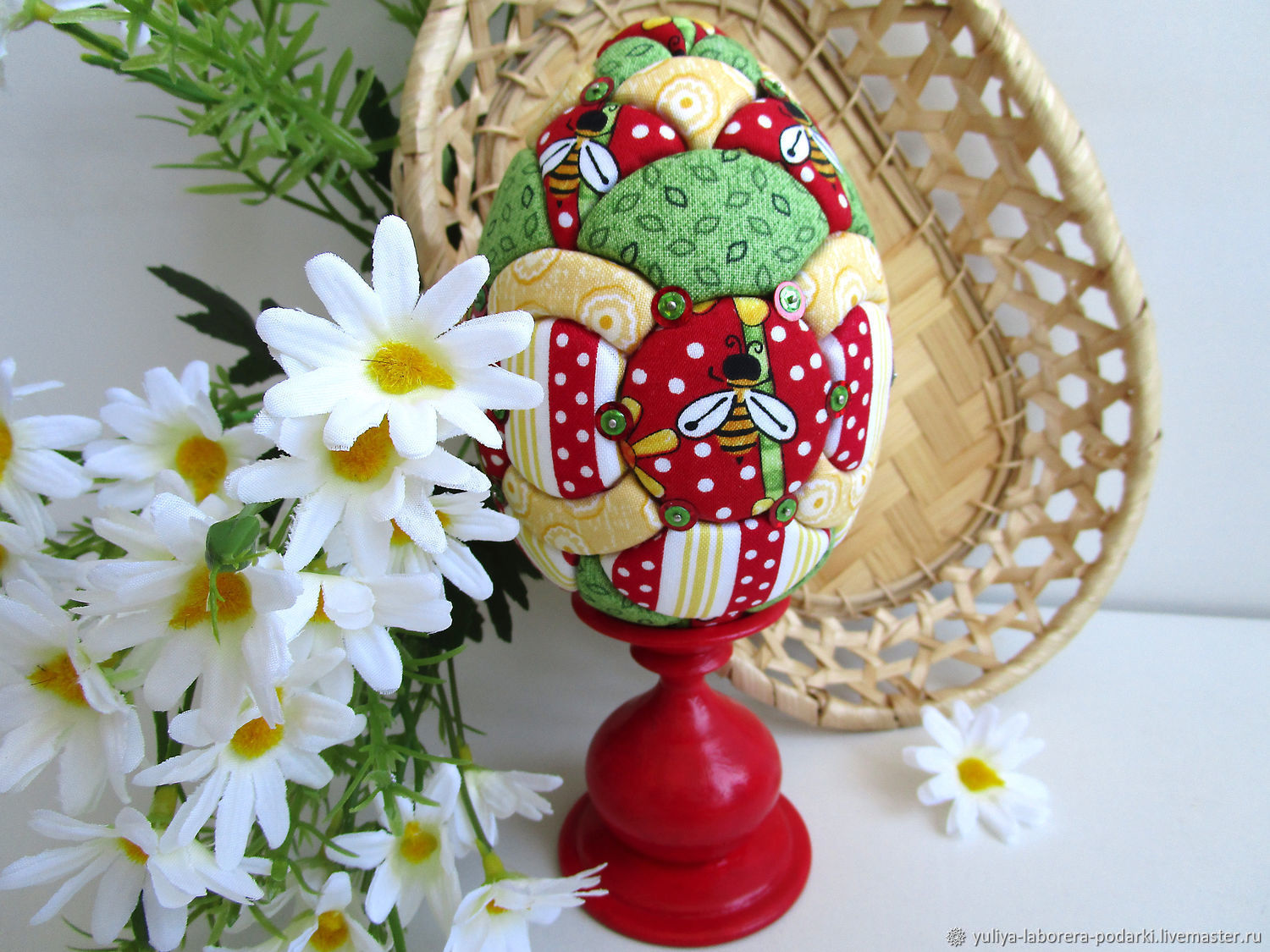 Easter Bee egg (interior on a stand) gift for Easter, Eggs, Nizhny Novgorod,  Фото №1