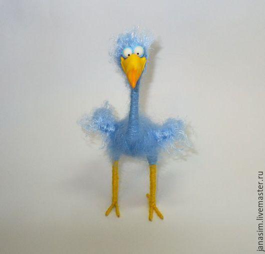 Игрушки животные, ручной работы. Ярмарка Мастеров - ручная работа. Купить Цапля голубая (студия  PIXAR). Handmade. Голубой, птицы