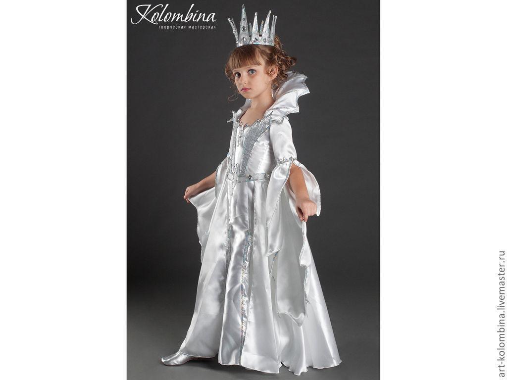 Новогодние костюмы для девочек снежная королева своими руками