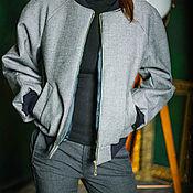 Одежда ручной работы. Ярмарка Мастеров - ручная работа Куртка  Бомбер класический в стиле Boss. Handmade.
