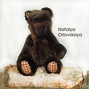 Мягкие игрушки ручной работы. Ярмарка Мастеров - ручная работа Бурый медвежонок. Handmade.