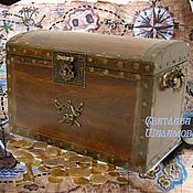 """Для дома и интерьера ручной работы. Ярмарка Мастеров - ручная работа Шкатулка """"Пиратский сундук"""". Handmade."""