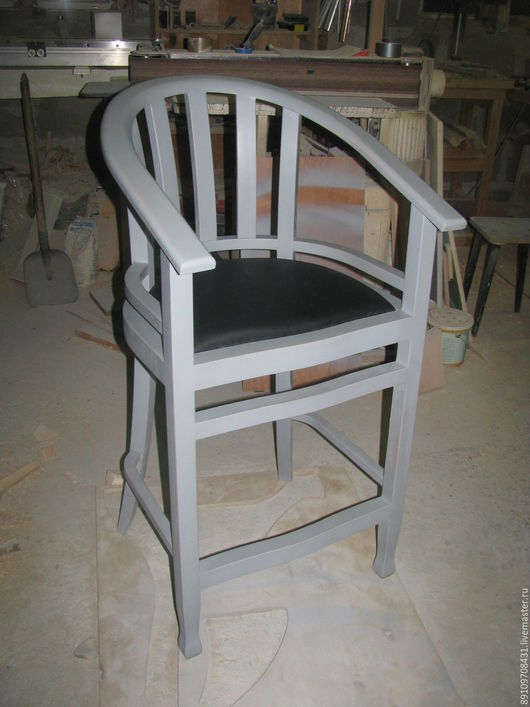 Мебель ручной работы. Ярмарка Мастеров - ручная работа. Купить Стул барный. Handmade. Серый