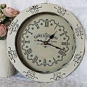 Для дома и интерьера ручной работы. Ярмарка Мастеров - ручная работа Часы настенные Шебби-монохром. Handmade.