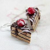 Украшения ручной работы. Ярмарка Мастеров - ручная работа Серьги Шоколадные тортики. Handmade.
