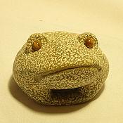 """Для дома и интерьера ручной работы. Ярмарка Мастеров - ручная работа """"Жду тебя"""" жаба из камня. Handmade."""
