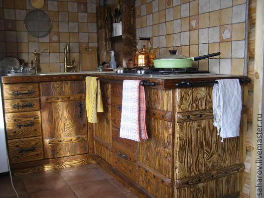 Мебель ручной работы. Ярмарка Мастеров - ручная работа. Купить Кухня. Handmade. Коричневый, Ковка, брашировка