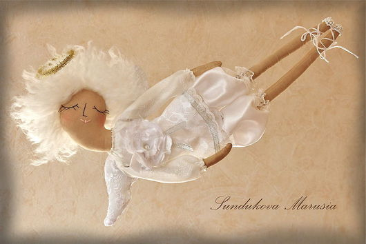 """Ароматизированные куклы ручной работы. Ярмарка Мастеров - ручная работа. Купить """"Ангел детских снов"""" - авторская кофейная куколка. Handmade."""