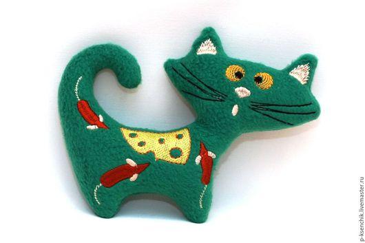 кот, котик, котенок, игрушка, интерьерная игрушка, кот игрушка, вышивка, вышитая игрушка, игрушка с вышивкой, вышитый кот, для детской, подарок, подарок женщине, интерьер, украшение, для дома, юмор