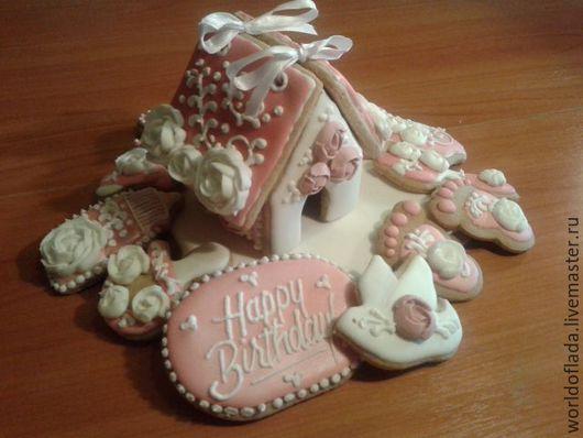 Подарки для новорожденных, ручной работы. Ярмарка Мастеров - ручная работа. Купить Детский набор пряников. Handmade. Бледно-розовый