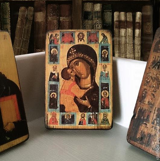 Иконы ручной работы. Ярмарка Мастеров - ручная работа. Купить Православные иконы на дереве Икона в подарок. Handmade. Разноцветный, иконы