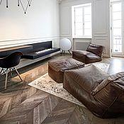 Для дома и интерьера ручной работы. Ярмарка Мастеров - ручная работа Кресло-лежак из натуральной кожи. Handmade.