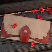 Сумки и аксессуары handmade. Livemaster - original item Wallet-leather clutch, women`s purse, large leather wallet. Handmade.