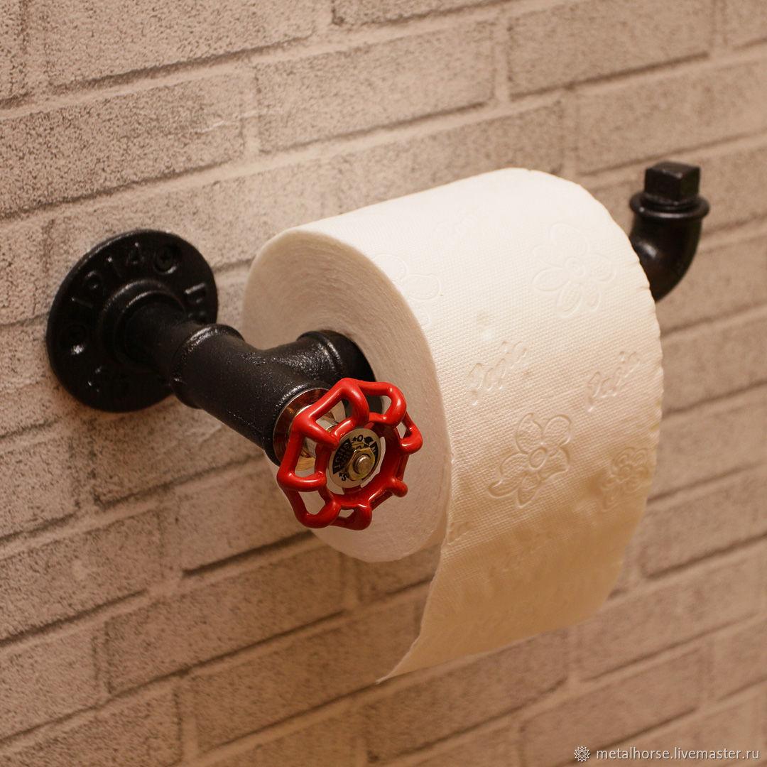 Держатель туалетной бумаги в стиле лофт, индастриал, стимпанк, ретро, Ванная комната, Москва, Фото №1