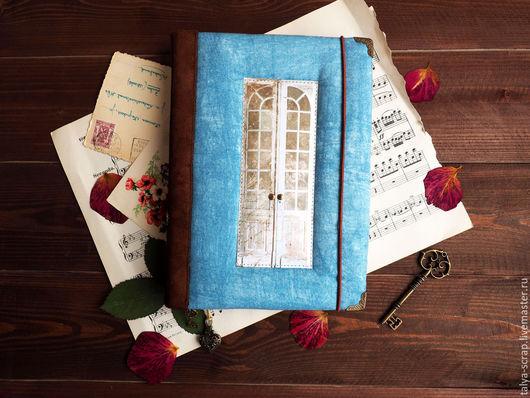 """Блокноты ручной работы. Ярмарка Мастеров - ручная работа. Купить Блокнот ручной работы """"Таинственный сад"""". Handmade. Голубой, двери"""
