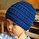 Шапки и шарфы ручной работы. Ярмарка Мастеров - ручная работа. Купить Шапочка для мальчика. Handmade. Тёмно-синий, шапка осенняя